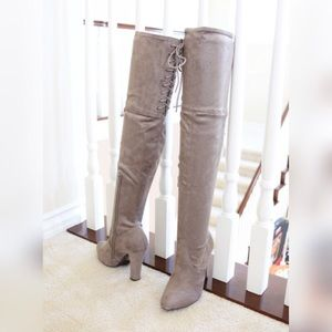 43f58efa379 Delicious Shoes - obey-taupe-over the knee boots